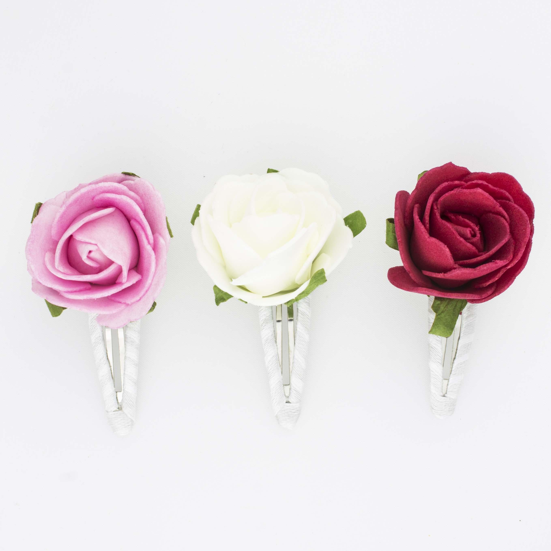 Как сделать цветок заколку только не розу