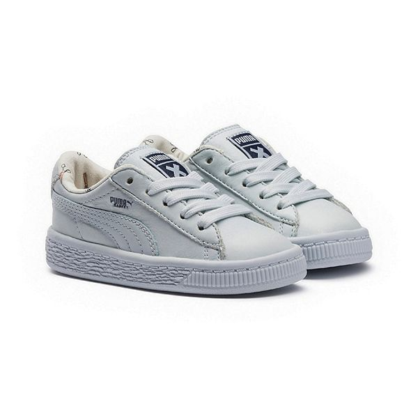 картинка Кроссовки Puma Basket Leather blue интернет-магазин Mintymoon.ru